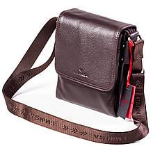 Чоловіча сумка шкіряна коричнева Eminsa 6097-18-3