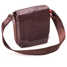 Мужская сумка через плечо кожаная коричневая Eminsa 6052-17-3