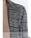 Стильный деловой брючный костюм в клетку из шерсти Размеры: 42, 44, 46, 48, фото 3