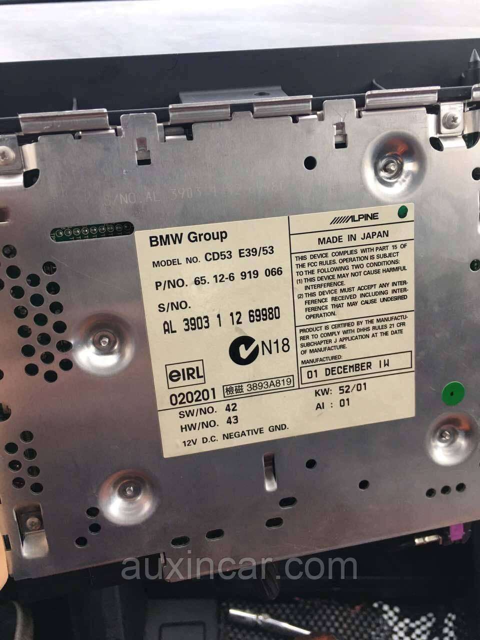Bmw aux для модели E39 Z4 E85 E83 E86 E53