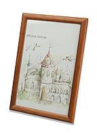 Фоторамка из дерева Сосна 2,2 см.(средне-коричневая) - для грамот, дипломов, сертификатов, фото!