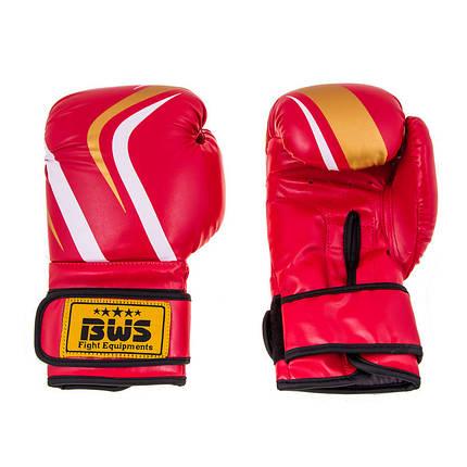 Боксерские перчатки CLUB BWS FLEX 10oz красный, фото 2