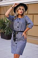 Женское модное платье с поясом  ИК1910, фото 1