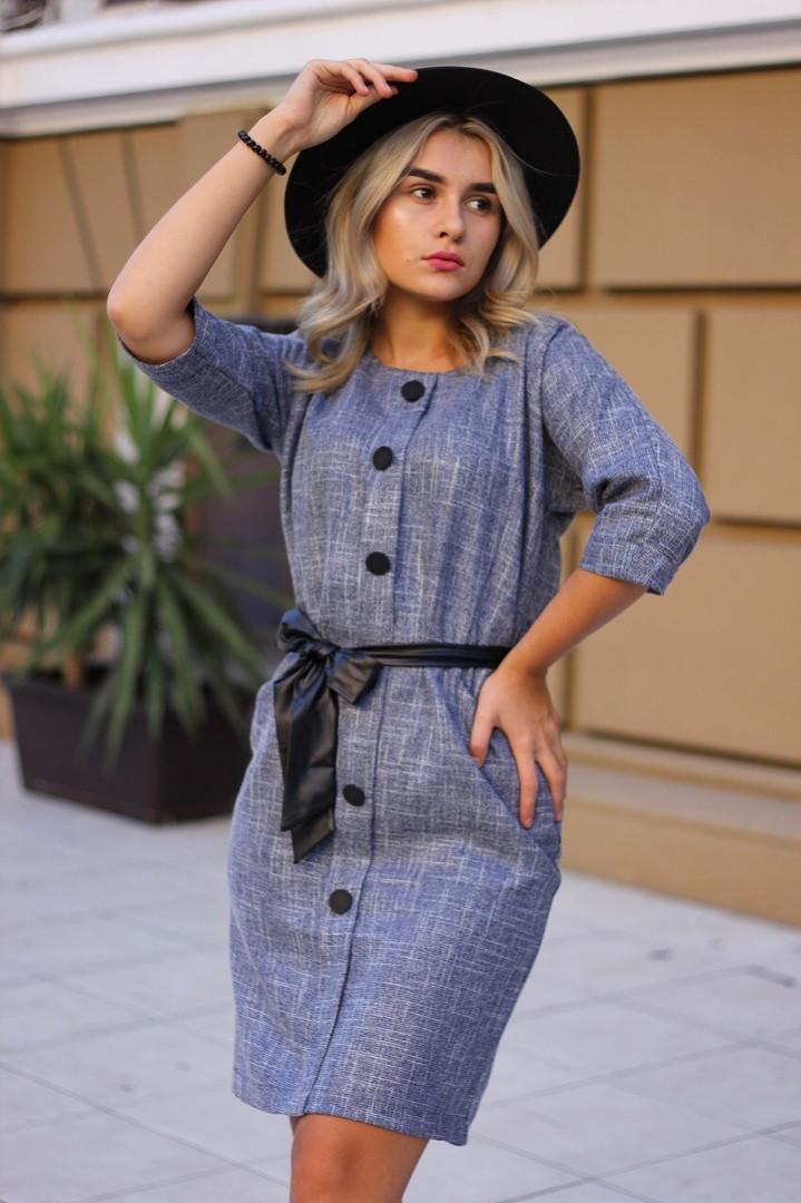 Женское модное платье с поясом  ИК1910