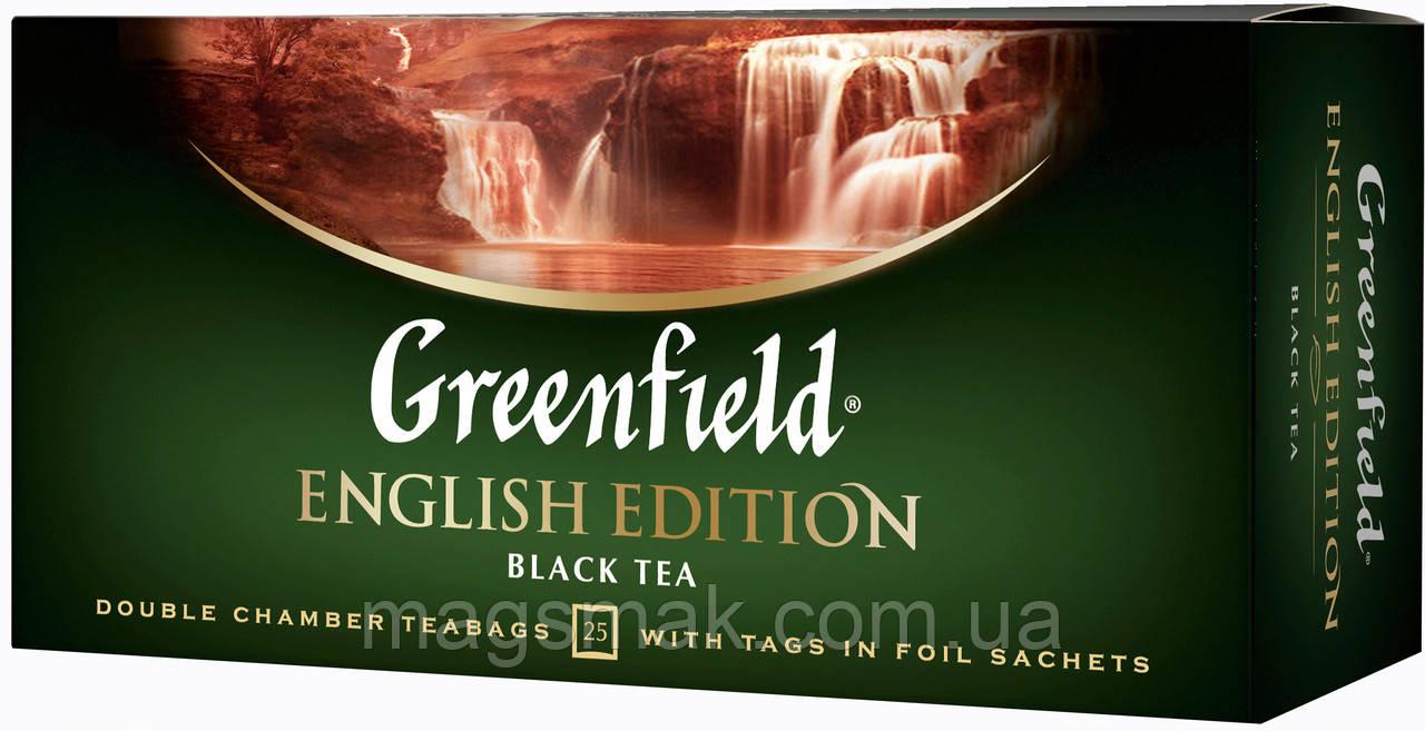Чай Greenfield English Edition, 25 пакетов