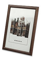 Фоторамка из дерева Сосна 2,2 см.(тёмно-коричневая) - для грамот, дипломов, сертификатов, фото!, фото 1
