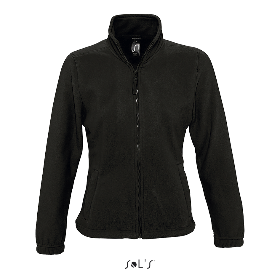 Женская флисовая куртка NORTH WOMEN, черный, SOLS, размеры от S до XXL