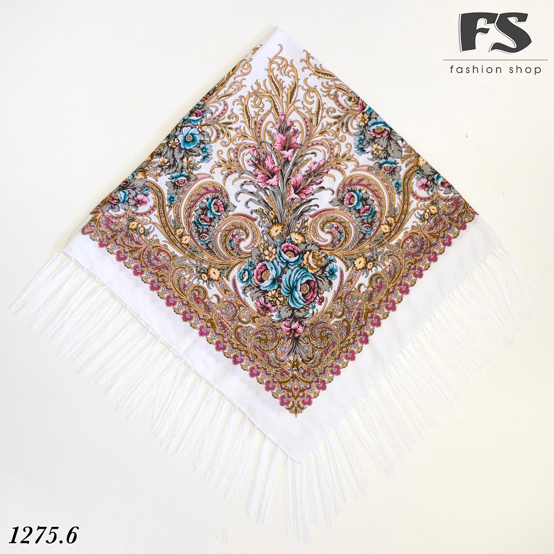 Павлопосадский белый платок  Изысканная