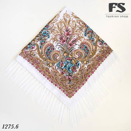 Павлопосадский белый платок  Изысканная, фото 2