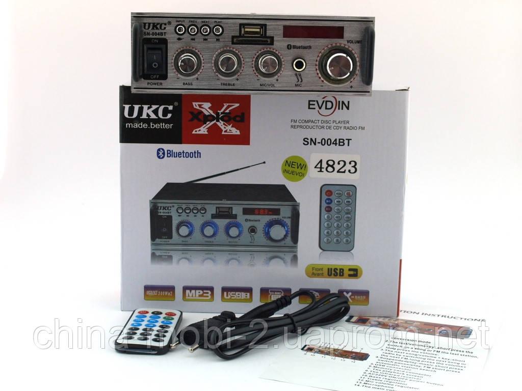 UKC SN-004BT 100W  2*50W  усилитель звука с караоке и блютузом