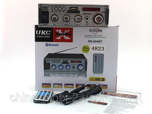 UKC SN-004BT 100W  2*50W  усилитель звука с караоке и блютузом, фото 2