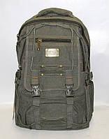 Рюкзак городской ранец из брезента Gold BE большой черный R-98209 Зеленый, фото 1