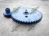 Комплект двухрядных звездочек уменьшения оборотов молотильного барабана зерноуборочного комбайна Енисей-1200