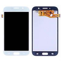 Дисплей для SAMSUNG A720 Galaxy A7 (2017) с белым тачскрином, с регулируемой подсветкой
