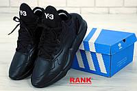 Кроссовки мужские Adidas Y-3 Kaiwa в стиле Адидас Каива черные