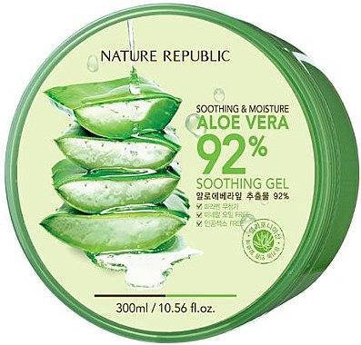 Гель для лица и тела Nature Republic Soothing & Moisture Aloe Vera 92% Soothing Gel, 300 мл, фото 2