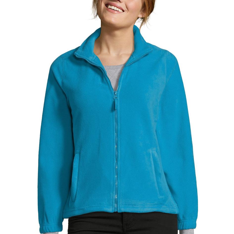 Женская флисовая куртка NORTH WOMEN, морской, SOLS, размеры от S до XXL