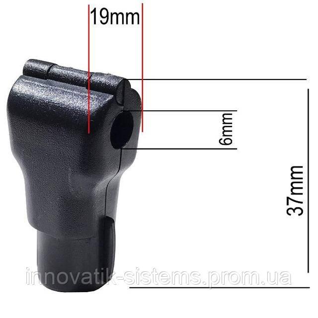 Черный стоплок для крючка 6  мм.