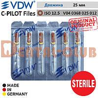 Ц-Пілот файли стерильні ВДВ (VDW STERILE C-PILOT Files)  у блістері по 6шт. L25mm, ISO №12.5