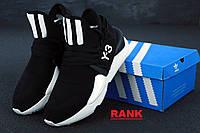Кроссовки мужские Adidas Y-3 Kaiwa в стиле Адидас Каива черно-белые