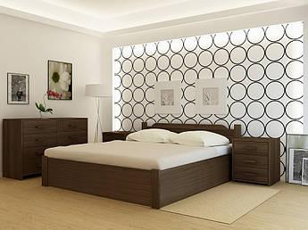 """Кровать деревянная TM """"YASON"""" Stokgolm PLUS с подъемным механизмом (Массив Ольхи либо Ясеня)"""