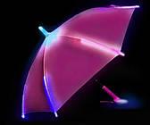 Светящийся детский зонтик трость с фонариком для детей Розовый Зонтик с Led подсветкой + батарейки