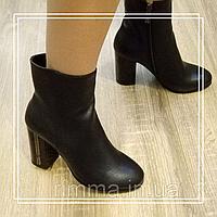 Женские демисезонные ботинки Lino Marano черная кожа M255, фото 1