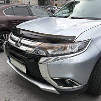 Дефлектор капота (мухобойка) Mitsubishi Outlander 2012-2020 (EGR) 026231