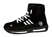 Ботинки черевики зимові спортивні чорного кольору