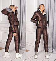 Теплый женский лыжный костюм на искусственнойовчинке 42,44,46р., фото 1