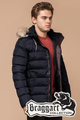 Мужская зимняя куртка с мехом (р. 46-56) арт. 16115D