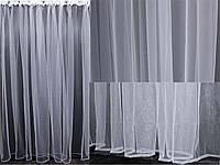 Тюль фатин, однотонный, цвет белый. Код 001тф, фото 1