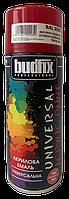 Аэрозольная акриловая эмаль, огненно-красная универсальная BUDFIX RAL 3000 400 мл