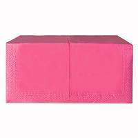 Салфетки бумажные Розовые 33х33  2-х слойные (200шт/уп)