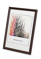 Фоторамка из дерева Дуб 1,5 см.(тёмно-коричневая). Для грамот, дипломов, сертификатов, фото, вышивок.