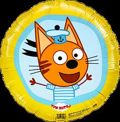 """Фольгированный шар Аgura 18"""" Кот в тельняшке"""