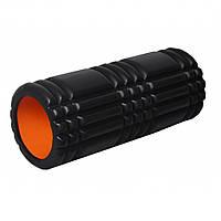 Масажний ролик 4025 Чорно-Оранжевий SKL24-144644
