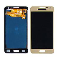 Дисплей для SAMSUNG A300 Galaxy A3 с золотистым тачскрином, с регулируемой подсветкой