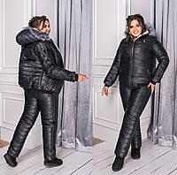 Женский теплый лыжный костюм с капюшоном 6расцв.(48-58р), фото 1