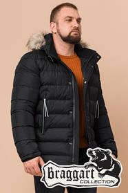 Мужская зимняя куртка с мехом Braggart Aggressive (р. 46-56) арт. 19833S