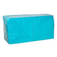 Салфетки бумажные Голубые 33х33  2-х слойные (200шт/уп)