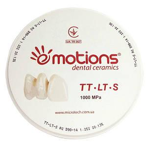 Циркониевый диск TT-LT-S окрашенный Ø 98мм для CAD/CAM систем, Emotions (Эмоушенз)