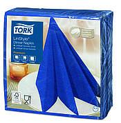 Обеденные салфетки Tork Linstyle из целюлозы, цвет темно-синий