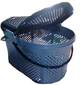 Переноска пластиковая Пикник серая, средняя, 45х31х25 см