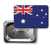 """Закатной значок """"Флаг Австралии"""""""