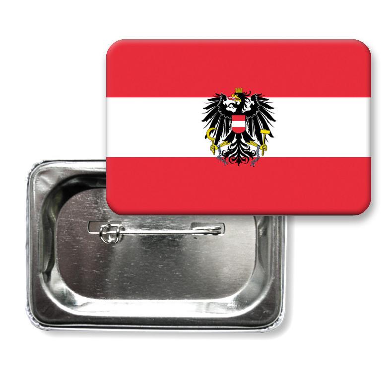 """Закатной значок """"Флаг Австрии"""""""