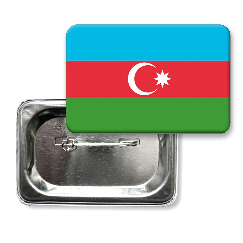 "Закатной значок ""Флаг Азербайджана"""