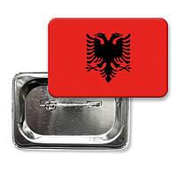 "Закатной значок ""Флаг Албании"""