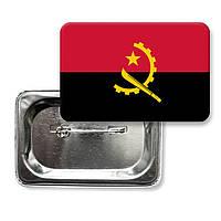 "Закатной значок ""Флаг Анголы"""