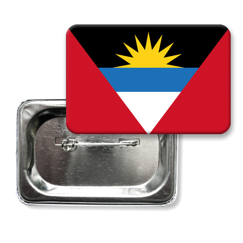 "Закатной значок ""Флаг Антигуа и Барбуда"" (Бермуды)"